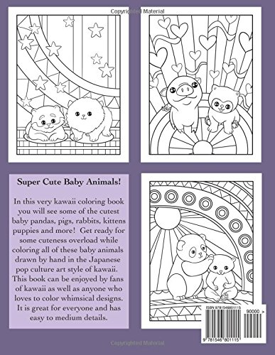 amazoncom kawaii baby animals a super cute coloring book for everyone kawaii manga and anime coloring books for adults teens and tweens volume 11 - Kawaii Coloring Book