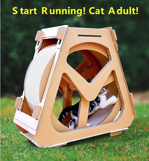 DIOPN Rueda de gato nuevo juguete para mascotas papel corrugado ...