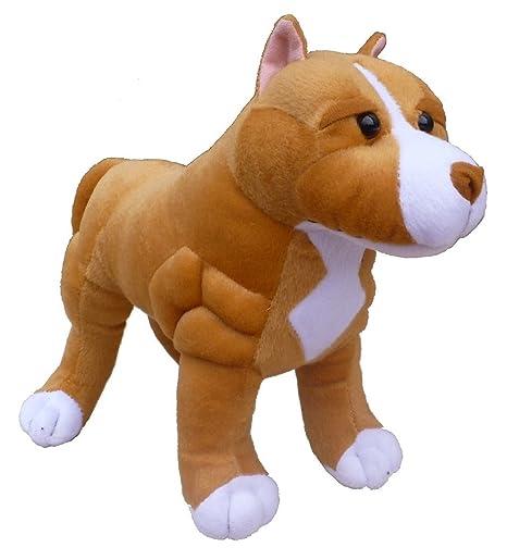 Amazon Com Adore 13 Standing Boss The Pit Bull Dog Plush Stuffed