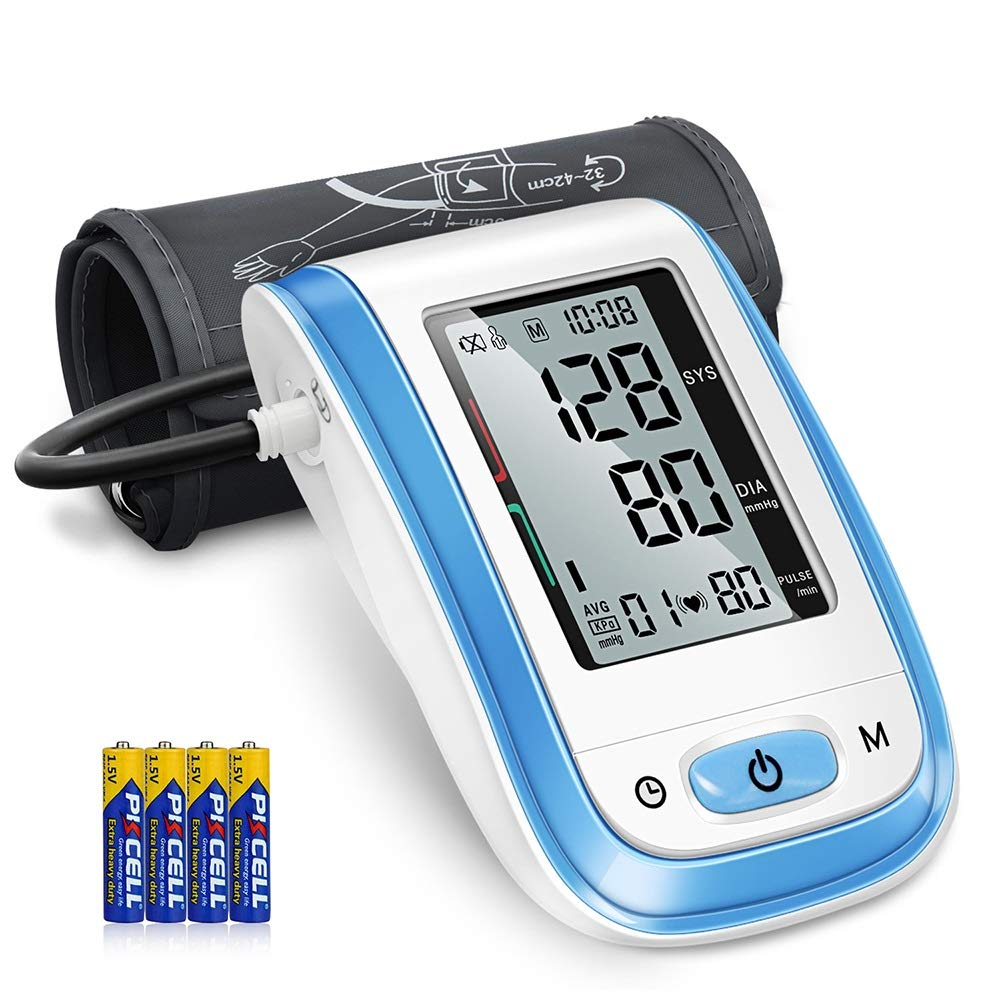2019 Model Blood Pressure Monitor – Automatic Digital BP Meter Upper Arm with Wide-Range Cuff, Large Screen 2×99 Reading Memory, Best Accuracy for Home Use – FDA Approved