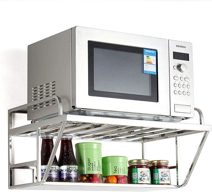 Estante para Horno microondas Estante de Cocina Doble Tipo H Estante de Almacenamiento de Cocina multifunci/ón Metal Acero Inoxidable Montaje f/ácil Ahorro de Espacio