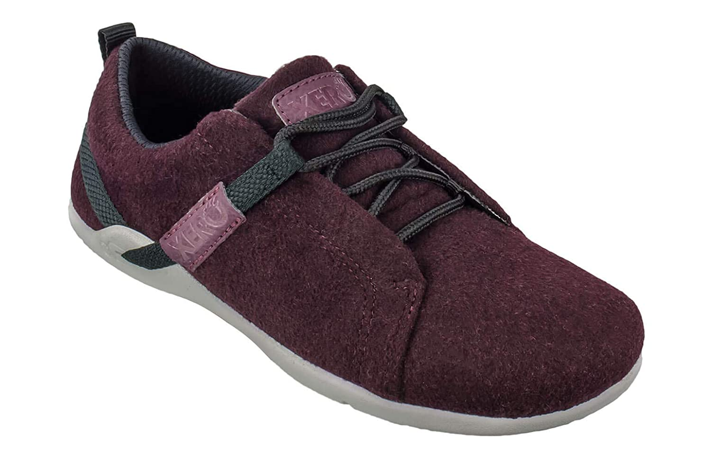 Merlot Xero shoes Pacifica - Women's Minimalist Wool shoes - Barefoot Inspired, Zero Drop Sole - Charcoal