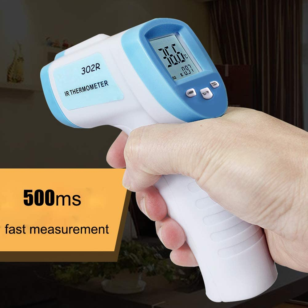 Term/ómetro infrarrojo sin Contacto Frontal LCD con Contador de Temperatura Digital 32-43DegC Starmood