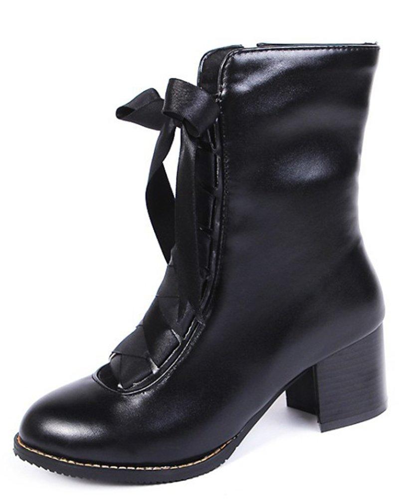 Easemax Talon Femme Classique Chaussure Chaussure Montante Montante Talon Bloc Bottines Noir aac79ca - therethere.space