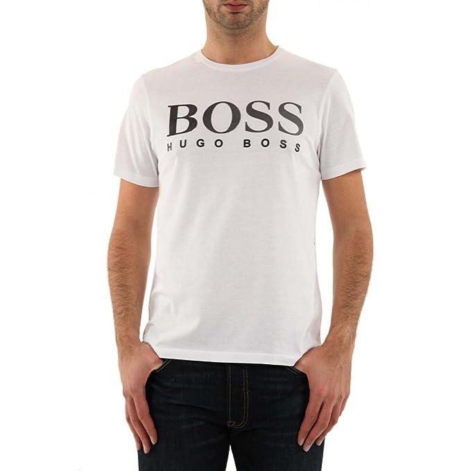 Hugo Boss: Camiseta, color blanco blanco XL