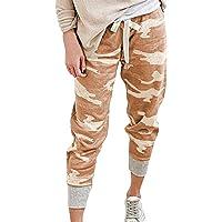 Eledobby Pantalones de Camuflaje para Mujer con Bolsillos Pantalones de Chándal Casuales Pantalones de Chándal con…