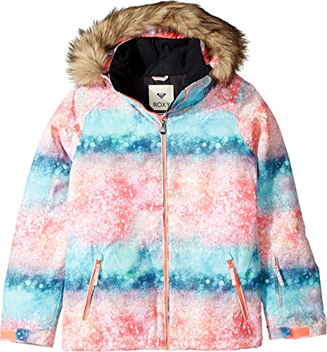 Roxy Big Girls' American Pie Snow Jacket, Neon Grapefruit_Solargradient, 10/Medium by Roxy