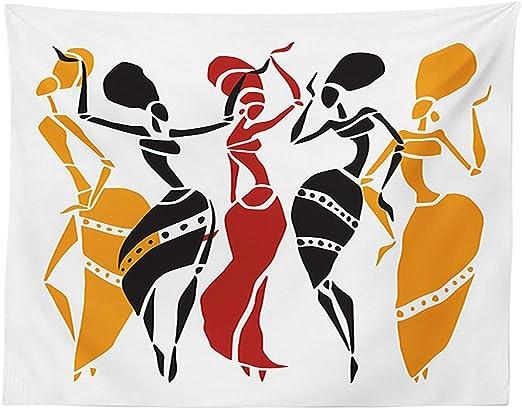 vipsung Africana decoración Mantel African Lady Dancers Cuerpo ...