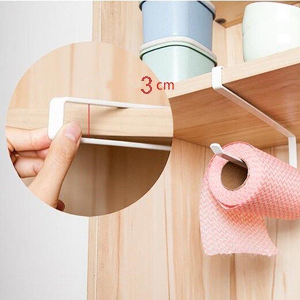 Nicedeal rotolo di carta da cucina Under cabinet Paper Storage One Hand (nero) DIY Tools