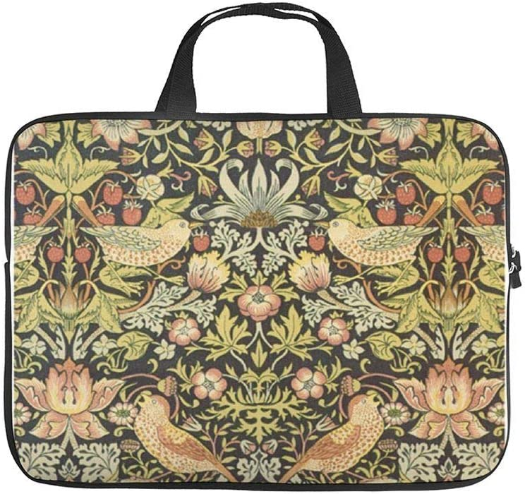 "Neoprene Sleeve Laptop Handbag Case Cover Brown Floral Art Nouveau 10 Inch Laptop Sleeve Case for 9.7"" 10.5"" Ipad Pro Air/ 10"" Microsoft Surface Go/ 10.5"" Samsung Galaxy Tab"