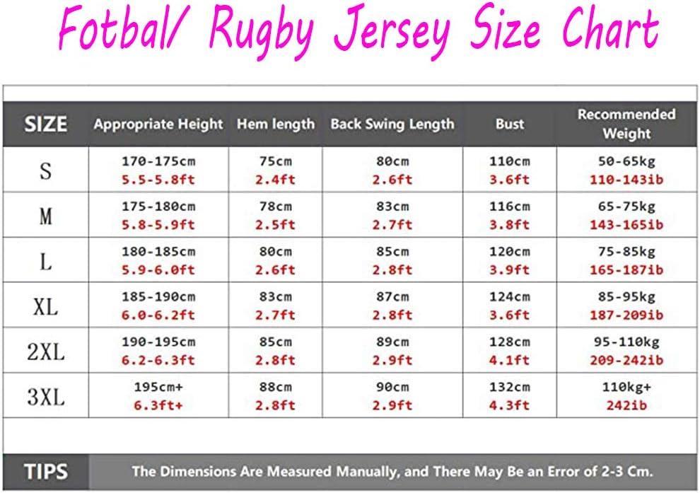 Camiseta de Rugby Mahomes # 15 Jefes de Camiseta de f/útbol Camiseta de Entrenamiento Bordada Camiseta Deportiva de Manga Corta Camiseta