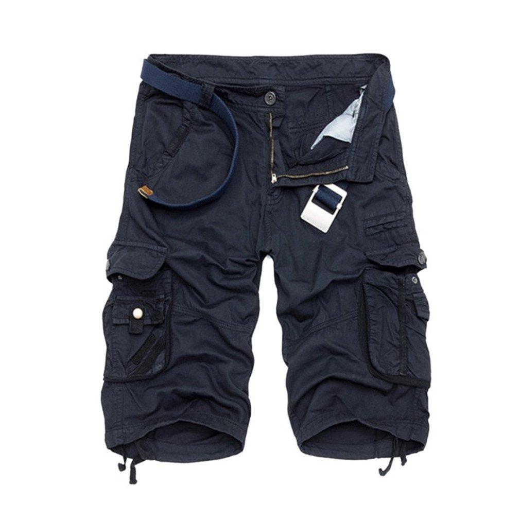 Shorts Men Cotton Sport Shorts Black Shortsm-5XL Short for Male Blue 38