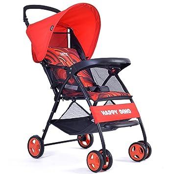 MuMa Cochecito Bebé Carro Coche Sombrilla Ligero Plegable Aplanado Cochecito De Bebé Bebé Cochecito De Bebé (Color : Rojo): Amazon.es: Hogar