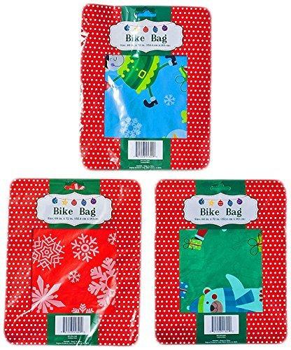 Set of 3 Christmas Gift Bags Jumbo/Giant Bike Size 60