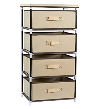 4 Layered Storage Bin Cabinet Drawer For Clothing, Underwear, Documents,  Household Objects