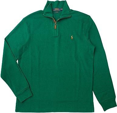 Polo Ralph Lauren Men's Estate Rib Half Zip Sweater, XS, Green