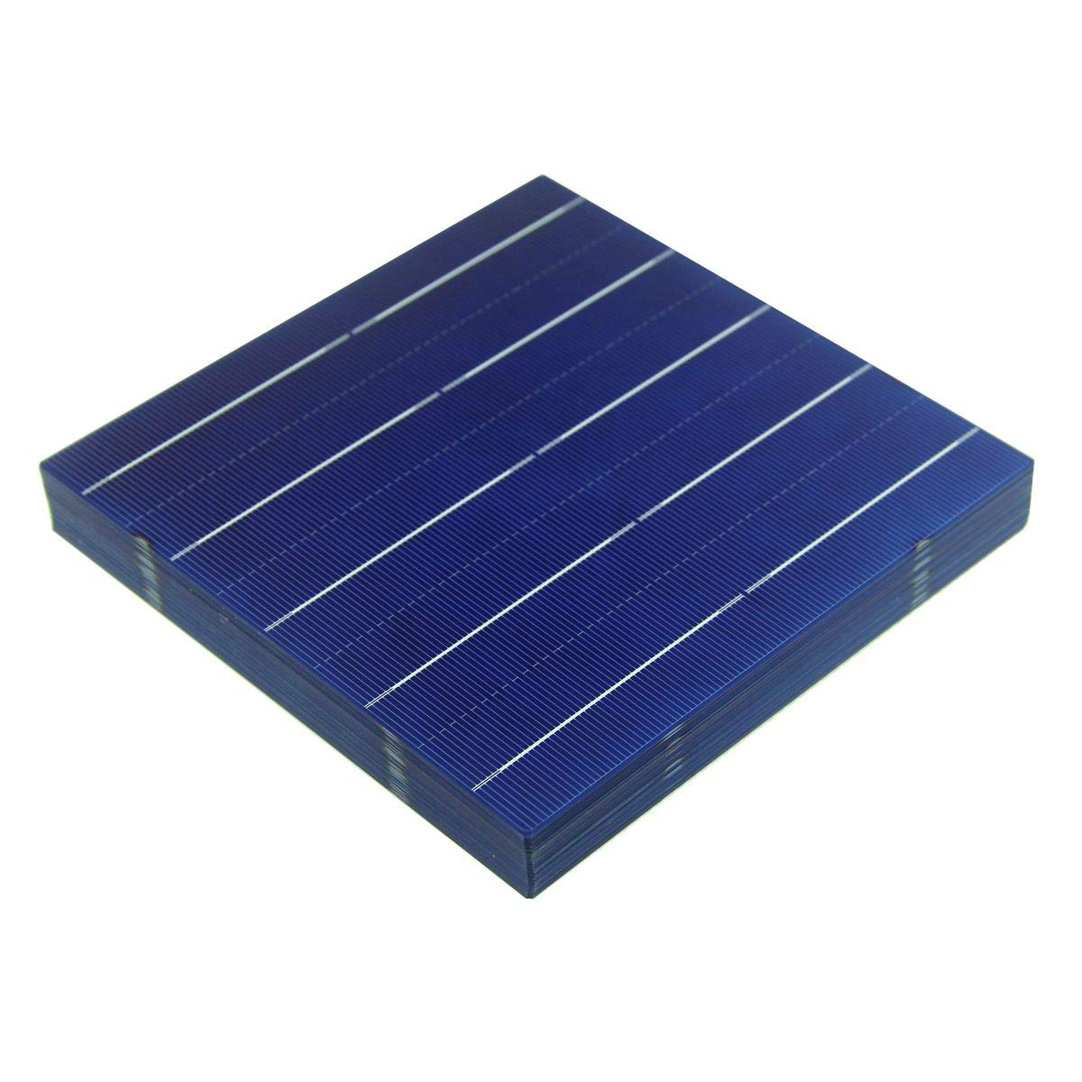 VIKOCELL 156MM 40Pcs 4.5W Polycrystalline Silicon Solar Panel Solar Cells 6×6 for DIY Solar Panel
