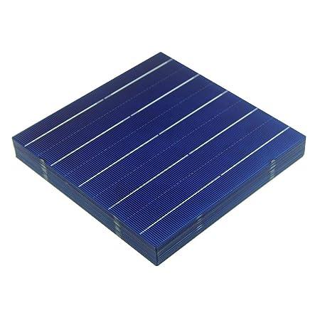 VIKOCELL 156MM 4.5W Polycrystalline Silicon Solar Panel Solar Cells 6×6 for DIY Solar Panel 100, Solar Cell Only
