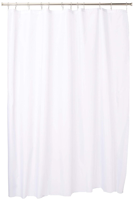 Amazon InterDesign Fabric Shower Curtain Modern Mildew Resistant Bath Liner For Master Kids Guest Bathroom Standard White INTERDESIGN Home