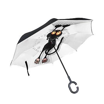 ISAOA invertido Paraguas Resistente al Viento Doble Capa reversa ...