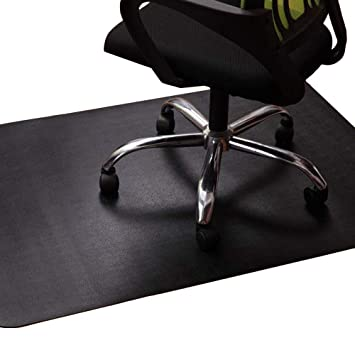 Pleasing Office Chair Mat For Hardwood And Tile Floor Black Anti Slip Non Curve Under The Desk Mat Best For Rolling Chair And Computer Desk 47 X 35 Machost Co Dining Chair Design Ideas Machostcouk