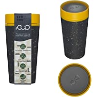 12oz 340ml rCup Reusable Coffee Cup Made from Recycled Cups, 100% Leak Proof, Various Colours