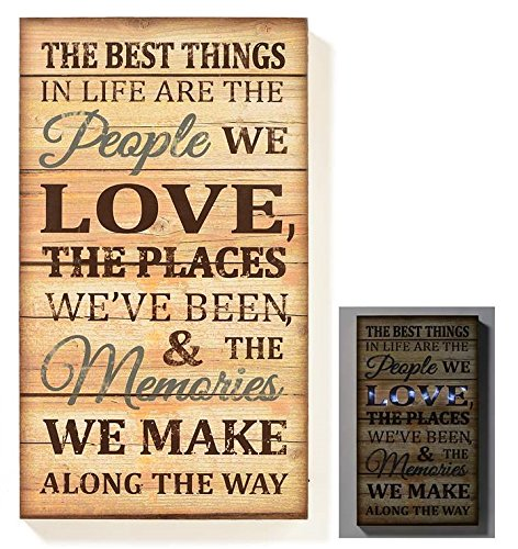 Giftcraft led lighted novelty sign best things in life for Gift craft home decor