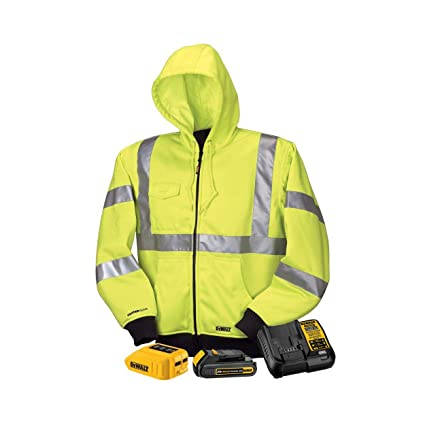 013fbe76 DeWALT - Medium - 20/12-Volt High Visibility MAX Unisex Heated Hoodie with  20-Volt Lithium-Ion MAX Battery and Charger - Yellow - DCHJ071C1