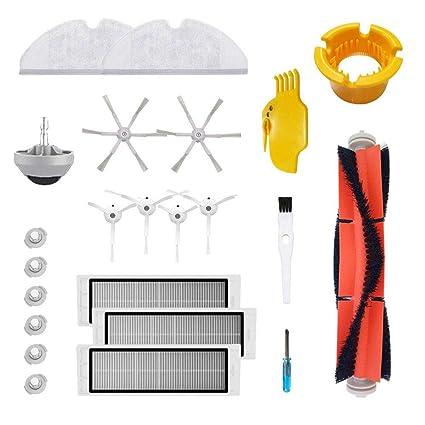Kit de accesorios para robot limpiador de aspiradora y trapeador Xiaomi Roborock S50 S51 S5 E20 E25 roborock 2 piezas de repuesto de robot