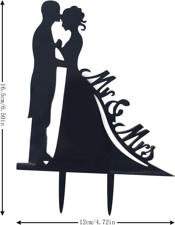 /Él y Ella acr/ílico duro Decoraci/ón para tarta de boda