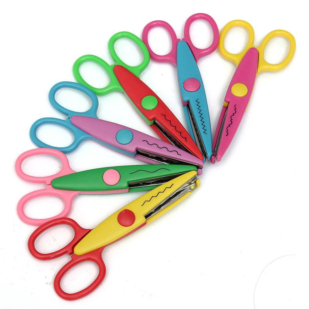 SYG/_FR Kit de tijeras para recortar con distintas formas 6 tijeras