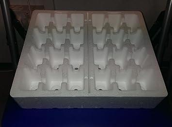 Planta bandejas de poliestireno con 24 celdas X 4. Gran Para el cultivo de enchufes
