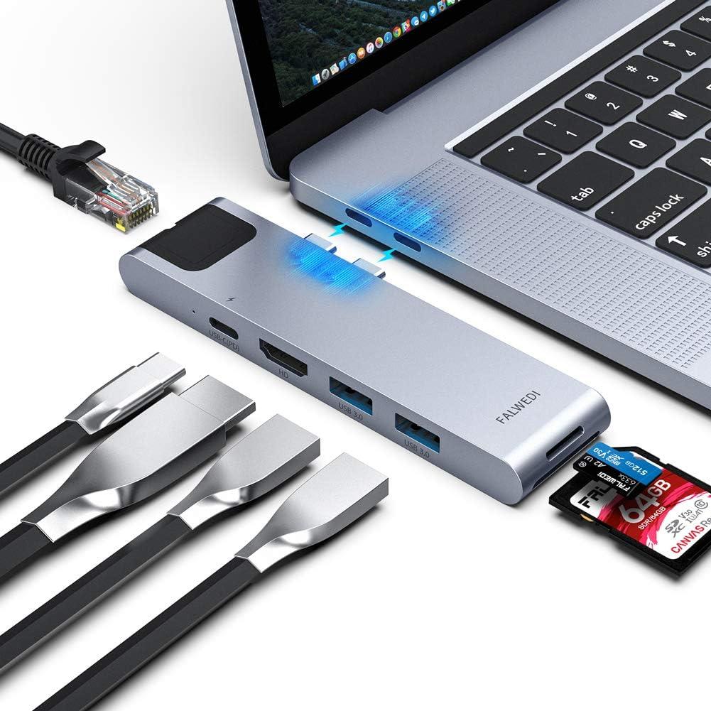 Type-C Dual Adapter MacBook Pro 7 in 2 Thunderbolt 3 4K HDMI Adapter USB C Hub