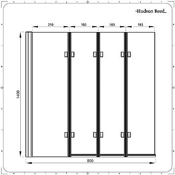 Mampara Puerta de Ducha Bañera Puerta 1400mmx800mm Ahorra Espacio ...