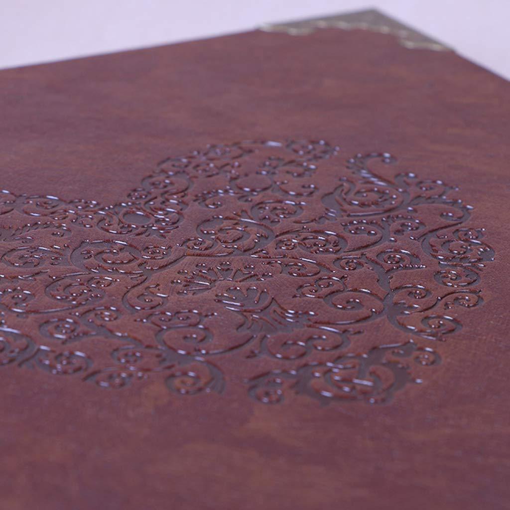 Nuonyerg Custom Wedding Guest Book ,Heart-Shaped Leather Cover Scrapbook DIY Photo Album,Perfect as Wedding Guest Book by Nuonyerg (Image #6)