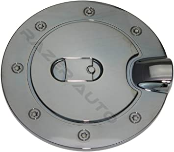 CHROME BOLT-ON GAS FUEL TANK DOOR COVER CAP+LOCK+KEY CHEVY PICKUP SUBURBAN TAHOE