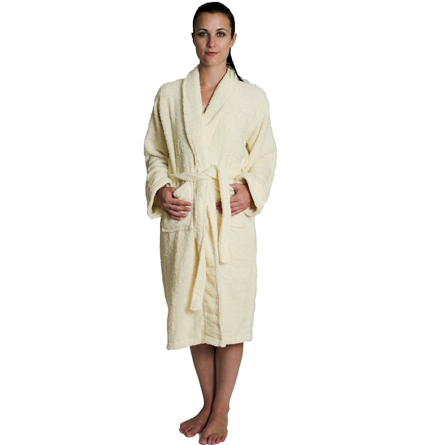 NDK New York Women's and Men's Terry Cloth Bath Robe 100% Cotton 18012