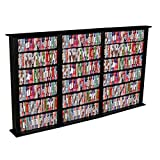 Venture Horizon Triple 50-Inch CD DVD Wall Rack Media Storage - Cherry