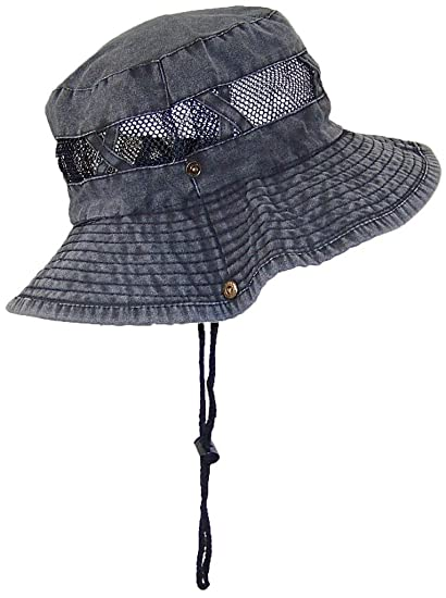 9a22a481 Tropic Hats Stonewash Floppy/Bucket Summer Cap W/Snap Up Sides & Mesh (