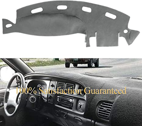 Dashboard Cover Dash Cover Mat Pad Custom Fit For Dodge Ram 1500 2500 3500 1998 1999 2000 2001 Ram 98 01 Gray Y21