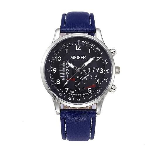 Dylung Reloj para Hombre Caballero Reloj de Pulsera Simple Relojes de Hombre Analógico Cuarzo de Acero Inoxidable Correa de Piel Negro Redondo Regalo ...