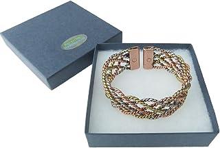 Amazing Health Ampia pizzo 3colori braccialetto magnetico in rame, ottone e alluminio