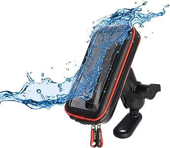 BarBaren Motorcycle Phone Mount Waterproof Cellphone Bag Case for Yamaha MT-09 MT-07/GSR600 GSR750 GSX-S1000/EX250R Ninja250R Ninja300/Duke 125 Duke 390