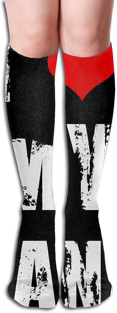 19.68 Inch Compression Socks I Love My Nana High Boots Stockings Long Hose For Yoga Walking For Women Man 612akJzA8nL