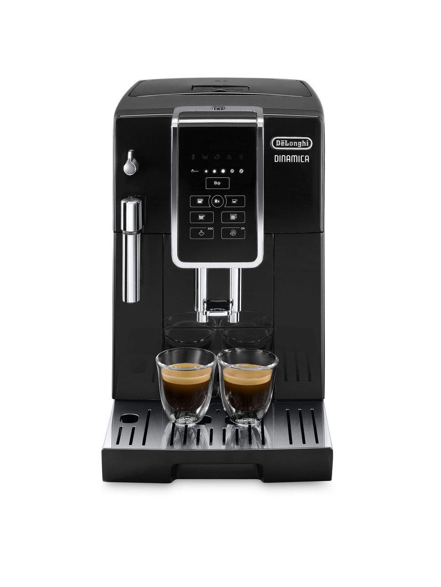 Delonghi Dinamica Ecam350.55.B - Cafetera superautomática, 1450w, función cappuccino, personalización variedad de bebidas, panel de control intuitivo con ...