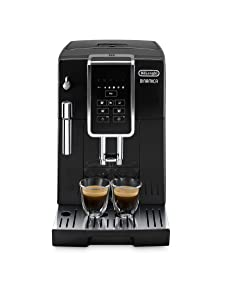 Delonghi super-automatic espresso coffee machine with an adjustable grinder, milk frother, maker for brewing espresso, cappuccino, latte. ECAM35015B Dinamica