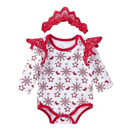 Ropa Bebe Niña Chandal Bebe Niña Bebé Recién Nacido Bebé Niño Niñas Manga Larga Navidad Mamelucos