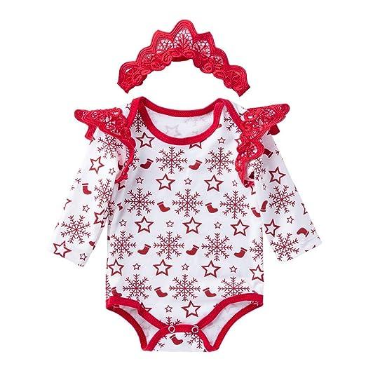 6ad86ad39 Amazon.com  0-18 Months Baby Boys Girls Christmas Santa Claus Romper ...