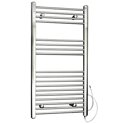 Hudson Reed Radiador Toallero Eléctrico Plano - Cromado - 1000mm x 500mm x 30mm - Ladder