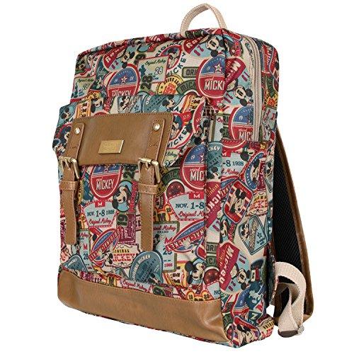Disney Mickey Pattern Preppy School Bookbag Travel Camping Backpack Rucksack(bag-064-1)